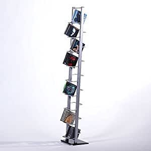 retro design cd stand cd rack lounge tower 138 metal. Black Bedroom Furniture Sets. Home Design Ideas