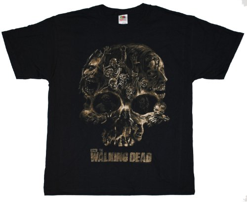 walking-dead-walker-skull-t-shirt-large-black