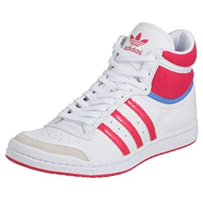 Amazon.com: Adidas Trainers Womens Top Ten Hi Sleek White 7 UK - 7, 5