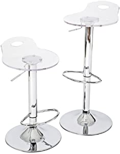 RST Brands Portola IP-BST2017-2CL Acrylic Barstool, 2-Pack