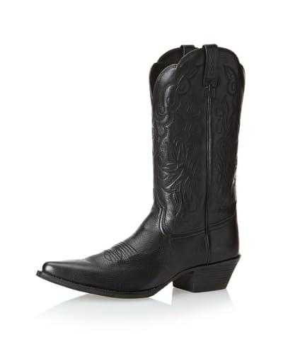 Ariat Women's Heritage Western J Toe Cowboy Boot  [Black Deertan]