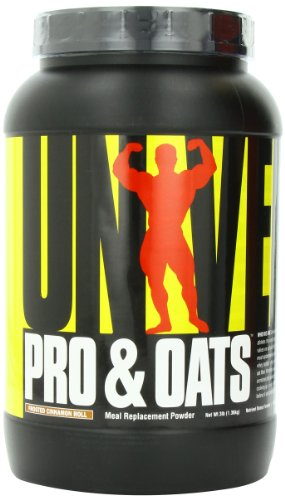 Universal Nutrition Pro and Oats Diet Supplement, Frosted Cinnamon Roll, 3 Pound