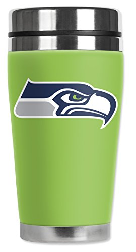 Mugzie® Brand 16-Ounce Travel Mug With Insulated Wetsuit Cover - Seattle Seahawks