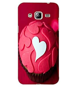 ColourCraft Love Muffin Design Back Case Cover for SAMSUNG GALAXY J3 (2016)