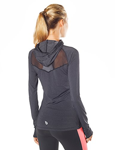 baleaf women 39 s running active hoodie shirt side zip