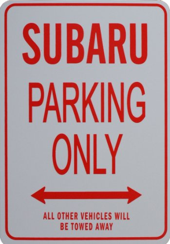 subaru-parking-only-sign