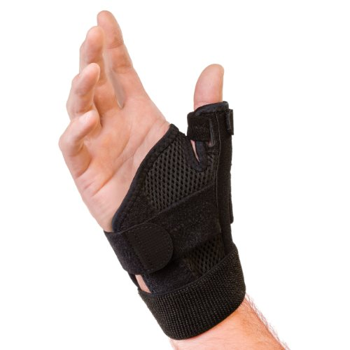 Mueller Sports Medicine Reversible Thumb Stabilizer, Black, Measure Around Wrist- Fits 5.5 - 10.5 Inches (Thumb Cast compare prices)