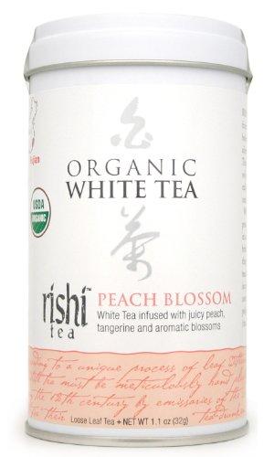 Rishi Tea Organic White Peach Blossom Loose Tea, 1.13-Ounce Box (Pack of 3)