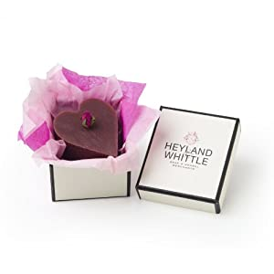 Heyland and Whittle Heart Shaped Rose Natural Soap in a Gift Box