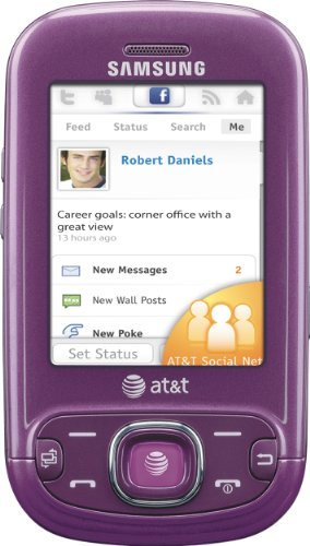 Samsung Strive A687 Phone, Purple (AT&T)