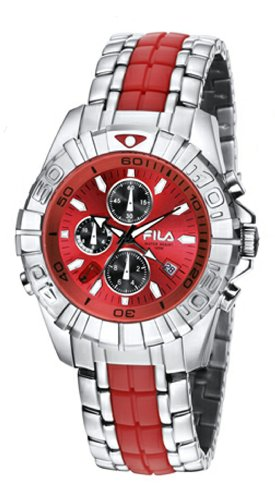 Fila Mastertime - Traveler Men's Chronograph Red Dial Watch #FA0794.43