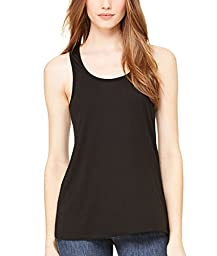 Bella 8800 Womens Flowy Racerback Tank - Black, Medium