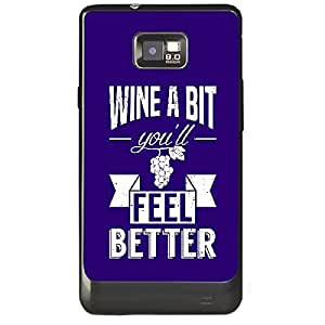 Skin4gadgets Awesome Wine & Dine Quotes, Pattern 15, Color - Dark Salmon Phone Skin for SAMSUNG GALAXY S2 (I9100)