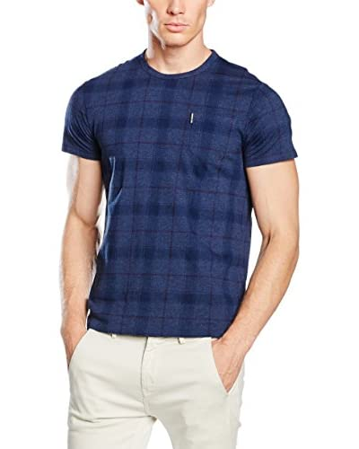 Ben Sherman T-Shirt Window Pane Print Tee blau