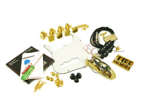 Replacement Jazz Bass Parts Kit Gold