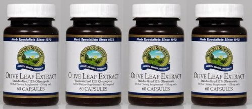 Naturessunshine Olive Leaf Extract Concentrate Supports Blood Sugar Levels 60 Capsules (Pack of 4)