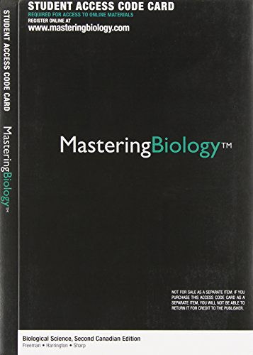 Biological Science, Second Canadian Edition, Loose Leaf Version with MasteringBiology (2nd Edition)