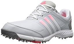 adidas Women\'s W Adipower TR Golf Shoe, Clear Grey/Running White/Flash Red, 6.5 M US