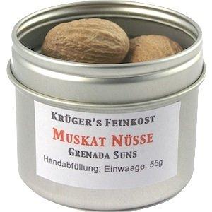 Krüger's Feinkost Muskatnüsse 1A Grenada Suns / ganz - 55g / 10 Stück - 80/85er von Krüger's Feinkost - Gewürze Shop