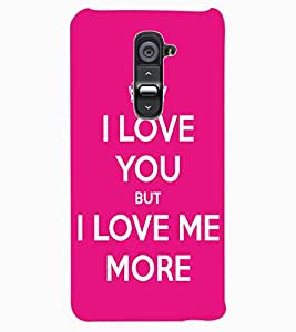 ColourCraft Quote Design Back Case Cover for LG G2
