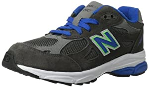New Balance KJ990 Pre Running Shoe (Little Kid),Grey/Blue,11 M US Little Kid