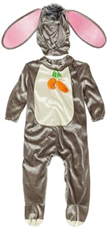 InCharacter Unisex-baby Infant Rabbit Costume, Grey/White/Pink, Medium