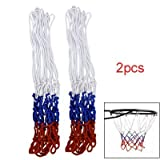 Best Basketball Nets - 2 Pcs 12 Loop Nylon Braided Multicolor Basketball Review