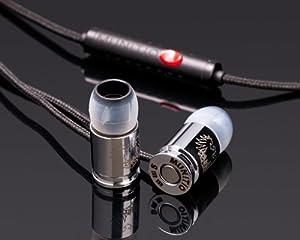 MUNITIO イヤホン SITi-G シルバー SILVER 9mm弾丸型 チタンコーティング リモコン付き カナル密閉型イヤホン [M]-SITI-S