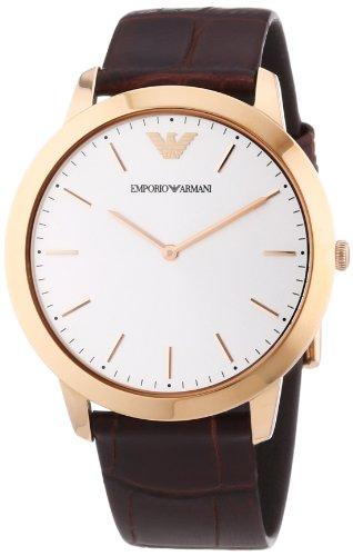 Emporio Armani  AR1743 - Reloj de cuarzo para hombre, con correa de cuero, color marrón