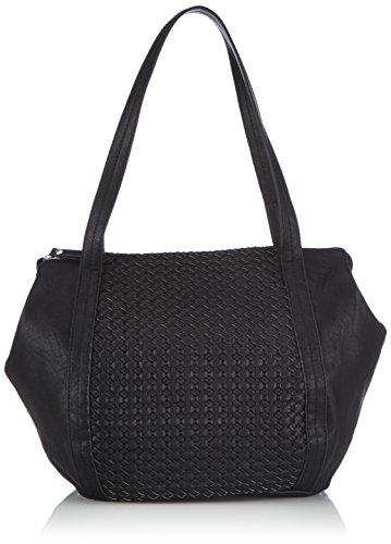 PIECES Pcnida Shopping Bag, Borsa shopper donna, Nero (Schwarz (Black Black)), 25x13x30 cm (B x H x T)