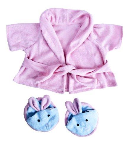 Pink Bathrobe  Bunny Slippers Teddy Bear Clothes