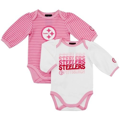 NFL Pittsburgh Steelers Girl's Long Sleeve Bodysuit