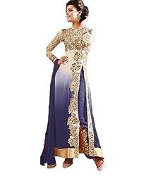 Styliner Fabulous Unstitched Salwar Suit(KE-AR1-01K,Black)