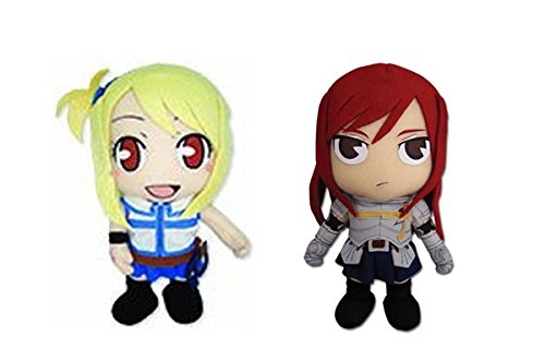 Set Of 2 Great Eastern Fairy Tail Plush - Lucy (Ge-52536) And Erza (Ge-6970) front-425686