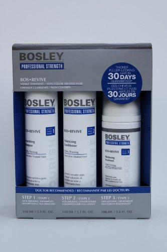 Hair Regrowth:Bosley restore Starter load up for Visibly loss / no Color-Treated Hair(Step 1, action 2, action 3) Images