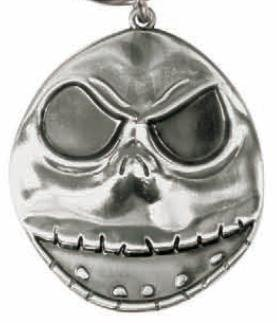 Nightmare Before Christmas Jack's Head Style 1 Pewter Keychain