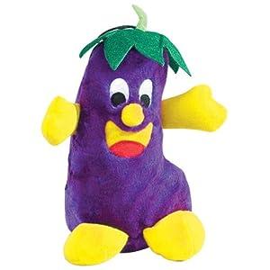 Zanies Polyester Giggling Veggies Dog Toy, 9-Inch, Eggplant