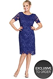 Twiggy for M&S Woman Pure Cotton Floral Lace Dress