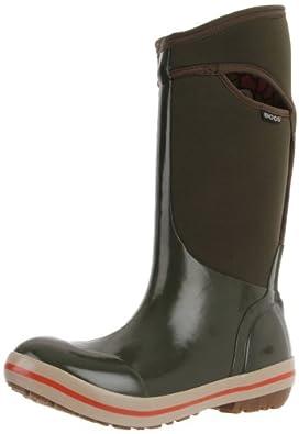 Bogs Women's Plimsoll Tall Waterproof Winter & Rain Boot,Green,7 M US