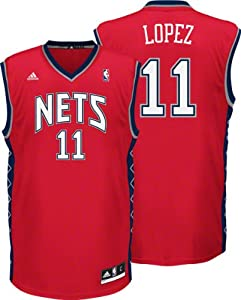 Adidas New Jersey Nets Brook Lopez Revolution 30 Replica Road Jersey by adidas