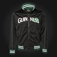 Guinness Tracksuit Top - Black - Shamrock