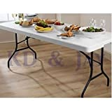 LIFETIME 6FT FOLDING TABLE WITH HANDLE, INDOOR OR OUTDOOR, EASY TO USE AND STORE