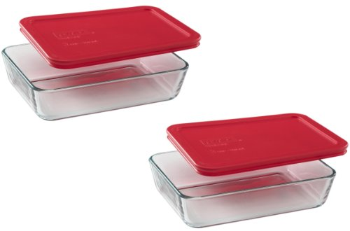 Pyrex 3-Cup Rectangle Food Storage (Pack of 2 Containers)