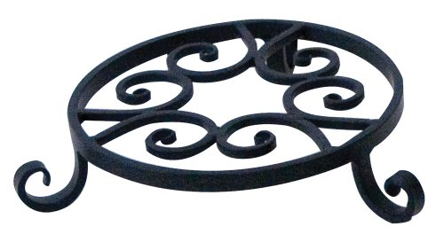 Panacea 89166 Olde World Forged Pot Trivet, Black, 8-Inch
