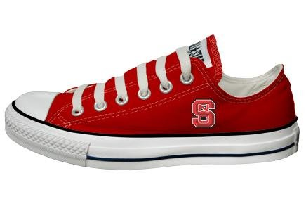 Buy Converse Chuck Taylor All Star Lo Top Red North Carolina State University Logo Canvas