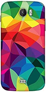 Snoogg Super Colour Pattern Designer Protective Back Case Cover For Micromax A110