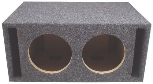 "Asc Dual 15"" Subwoofer Universal Slot Vented Port Sub Box Speaker Enclosure"