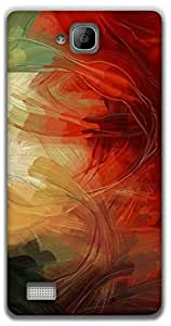 The Racoon Grip Colorful strokes hard plastic printed back case / cover for Huawei Honor 3C