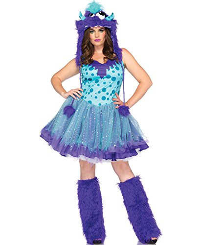 Leg Avenue Womens 2 Piece Polka Dotty Monster Adult Plus Size Halloween Costume