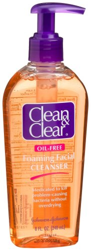 Clean & Clear Oil-Free Foaming Facial Cleanser, 8-Ounce Pump Bottles (Pack of 6)